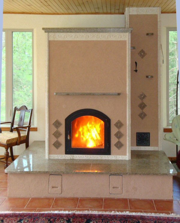 Masonry heater by Dale and Andre Demary