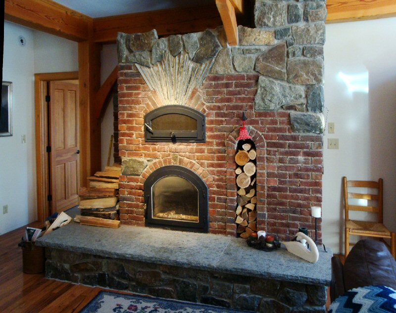 Masonry heater by Dale Demary