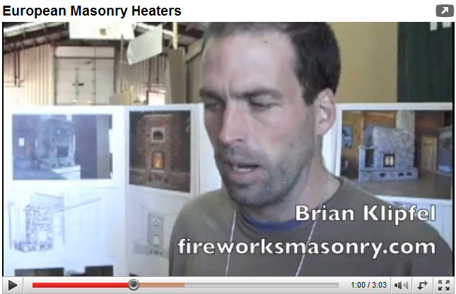 Brian Klipfel masonry heater video
