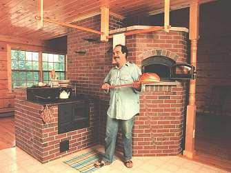 Brick Heater with Cookstove and Bake Oven