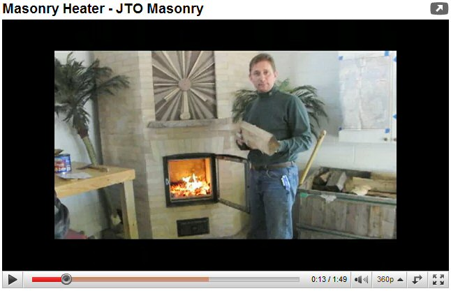Masonry heater by Jeff Owens