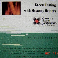 Green Heating with Masonry Heaters Power Point presentation on CD