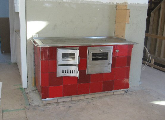 Red stove by Jessica Steinhauser