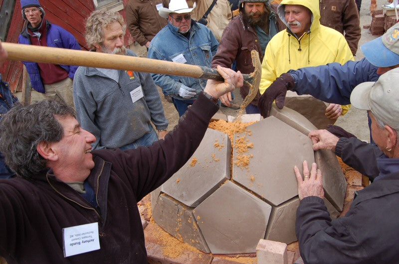 geodesic oven workshop with Norbert Senf and Pat Manley