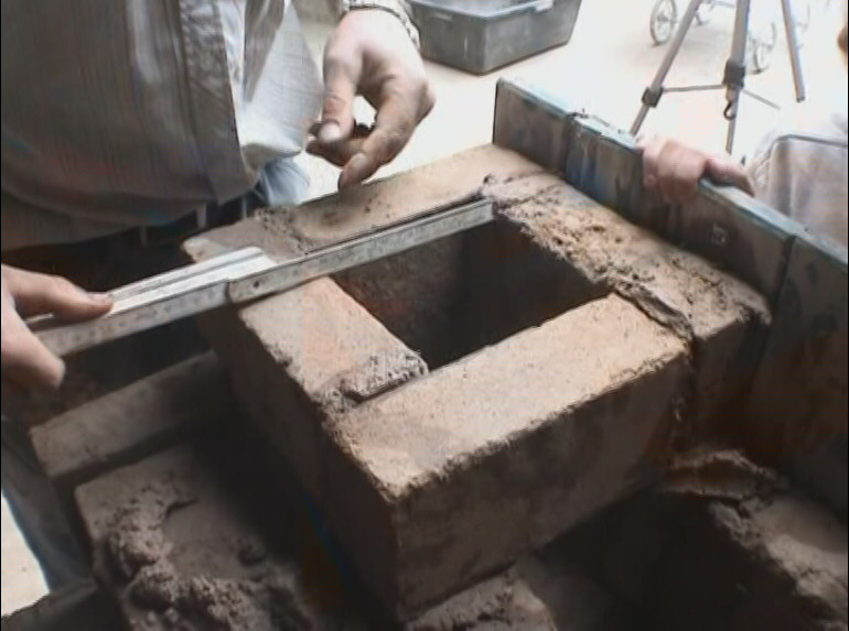 Clay cooking stove developed by the Austrian Tile Stove Association