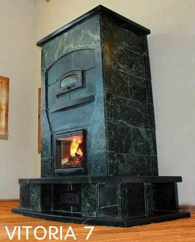 Soapstone heater by Greenestone Co.
