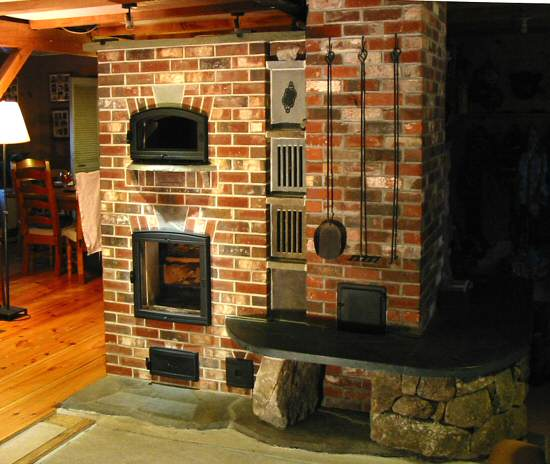 Brick masonry heater by Chris Springer